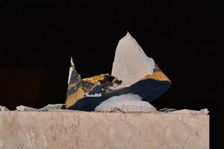 Imagem de Nossa Senhora Aparecida explode misteriosamente em Cajazeiras