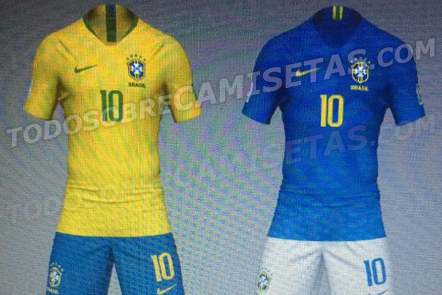 Uniformes que a Seleção Brasilera vai usar na Copa do Mundo vazam em site de compras.